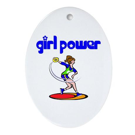 Girl Power Discus Ceramic Ornament