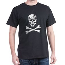 Scull  Crossbones on black T-Shirt