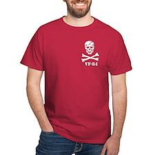 Scull & Crossbones WHT REV on black T-Shirt