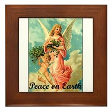 Peace On Earth - Angel Framed Tile
