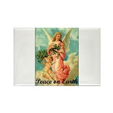 Peace On Earth - Angel Rectangle Magnet