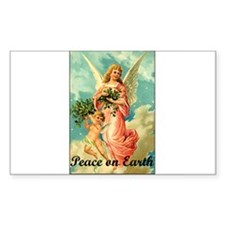Peace On Earth - Angel Rectangle Decal