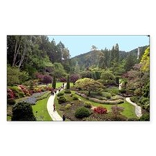 Garden Walk Rectangle Bumper Stickers
