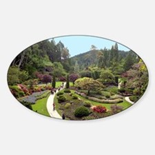 Garden Walk Oval Decal