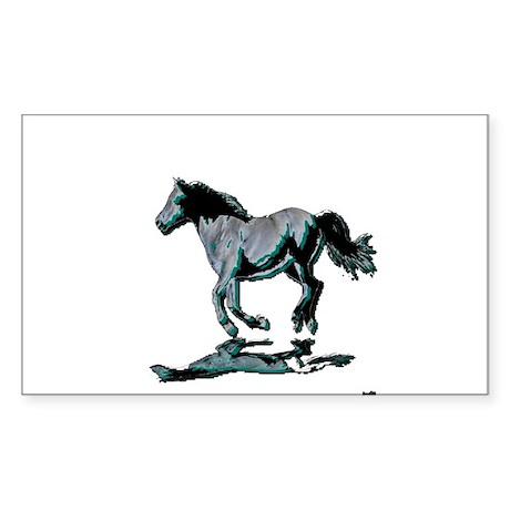 horse portrait painting Sticker