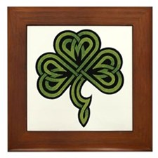 Irish Shamrock Framed Tile