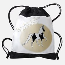 Unique Racking horses Drawstring Bag