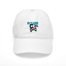Rollergirl Skull Logo Blue Baseball Cap