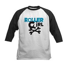 Rollergirl Skull Logo Blue Tee