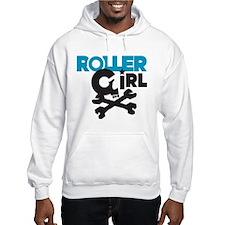 Rollergirl Skull Logo Blue Hoodie
