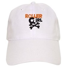 Rollergirl Skull Logo Baseball Cap