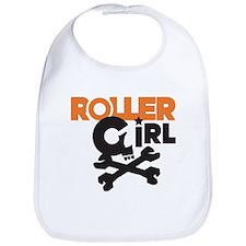 Rollergirl Skull Logo Bib