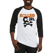 Rollergirl Skull Logo Baseball Jersey