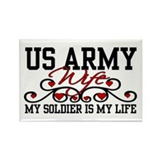 Army Wife My Soldier is my Life Rectangle Magnet