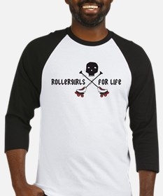 Rollergirls For Life Baseball Jersey