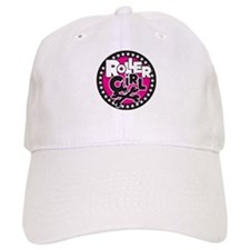 Rollergirl Skull Circle Pink Baseball Cap