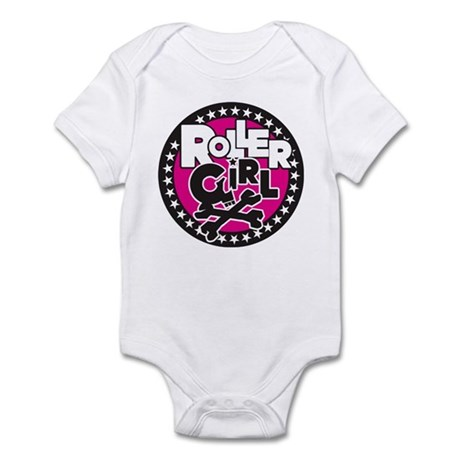 Rollergirl Skull Circle Pink Infant Bodysuit