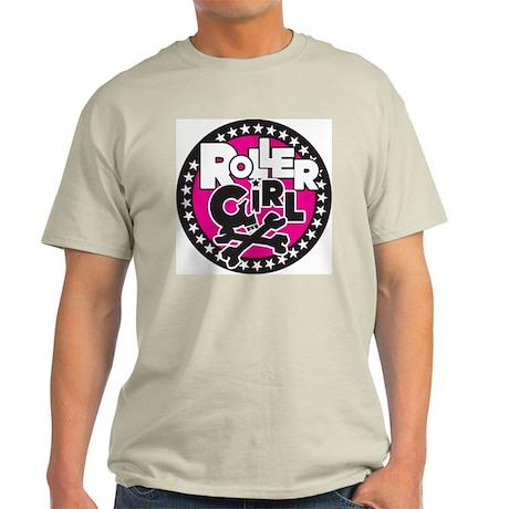 Rollergirl Skull Circle Pink Ash Grey T-Shirt
