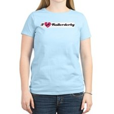 I Heart Rollerderby! Women's Pink T-Shirt