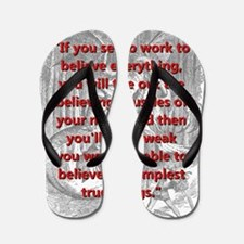 If You Set To Work - L Carroll Flip Flops
