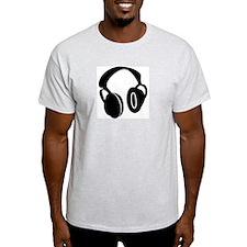 DJ Headphones Ash Grey T-Shirt