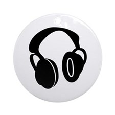 DJ Headphones Ornament (Round)