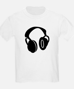 DJ Headphones Kids T-Shirt