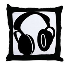 DJ Headphones Throw Pillow