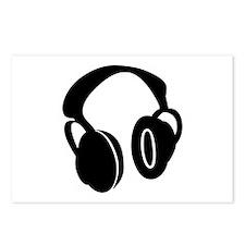 DJ Headphones Postcards (Package of 8)