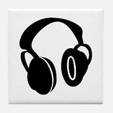 DJ Headphones Tile Coaster