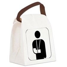 Orthopedics symbol against white  Canvas Lunch Bag