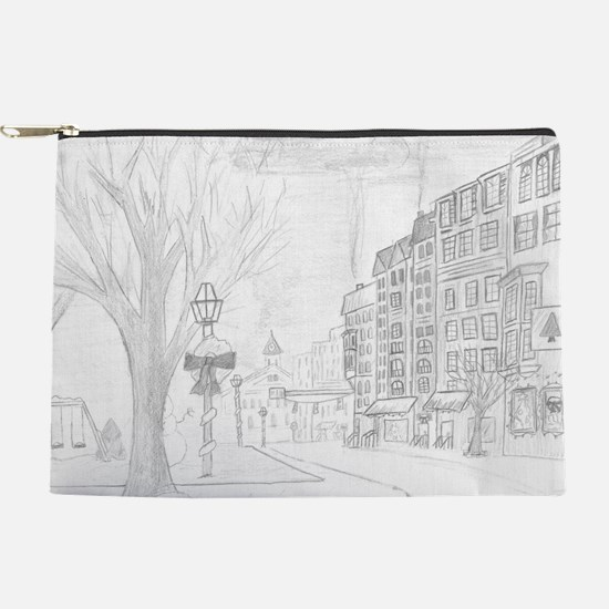 Snowy Town Makeup Pouch