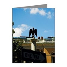 Close-up of one way sign, Bo Note Cards (Pk of 10)