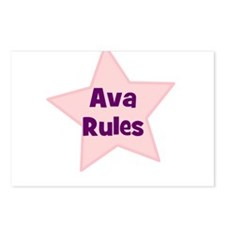 Ava Rules Postcards (Package of 8)