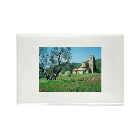 Italy, Tuscany, Abbey Rectangle Magnet (100 pack)