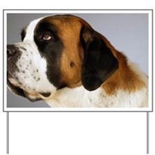 Side profile of a St. Bernard dog lookin Yard Sign