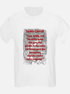 Jabberwocky 1 and 7 - L Carroll T-Shirt