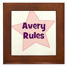 Avery Rules Framed Tile