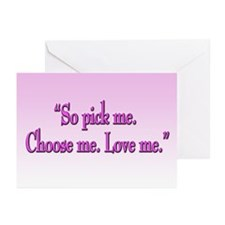 Grey's Anatomy Pick Me Greeting Cards (Package of