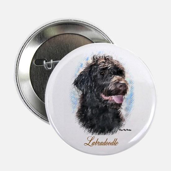 "Labradoodle Art 2.25"" Button (10 pack)"