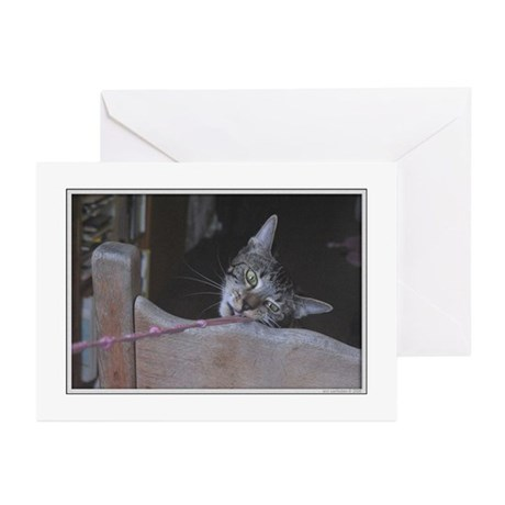 Ashley payls tug-of-war Greeting Cards (Package of