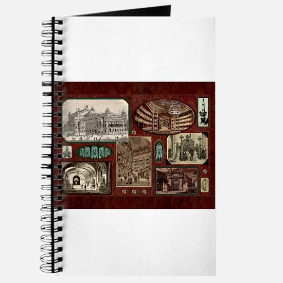 Paris Opera House, Vintage Red Collage Journal