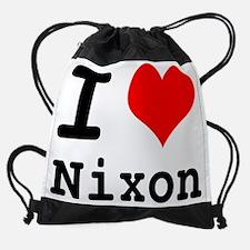 ilovenixon.png Drawstring Bag