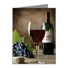 Glass of wine and grapes Note Cards (Pk of 20)