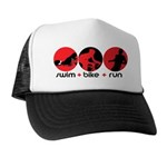 RUN BIKE SWIM Trucker Hat