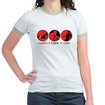 RUN BIKE SWIM Jr. Ringer T-Shirt