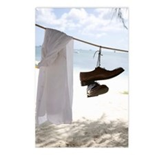 Shirt and shoes hanging f Postcards (Package of 8)