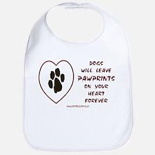 Dogs Leave Pawprints Bib
