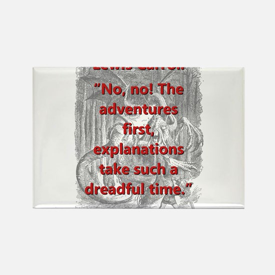 No No The Adventures First - L Carroll Magnets