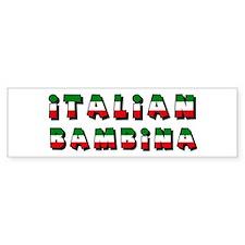 Italian bambina Bumper Bumper Sticker